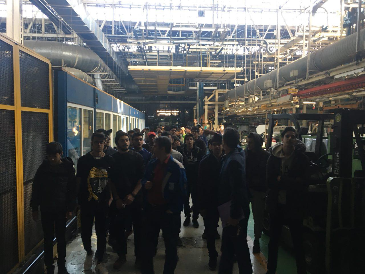 TIS Students Visited Iran-Khodro Manufacturing Line